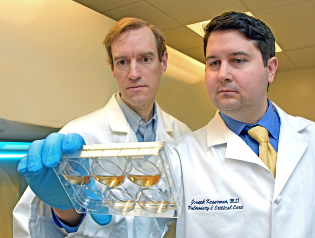 Andrew Wilson, MD, left and Grantee Joseph Kaserman, MD