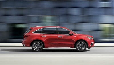The 2018 Acura MDX Sport Hybrid begins arriving at Acura dealerships tomorrow, boasting an upgraded user interface and additional in-vehicle technology plus two new exterior colors, Basque Red Pearl II and San Marino Red. Pricing begins at a Manufacturer?s Suggested Retail Price of $52,100 (excluding $995 destination and handling).