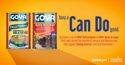 Goya dona más de 1.5 millones de libras de alimentos a Feeding America® y bancos locales de alimentos como parte de la campana 'Can Do' de Goya Gives.