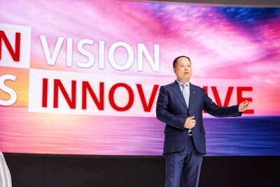 Yu Jun, président de GAC Motor, lors du NAIAS de 2018 (PRNewsfoto/GAC Motor)