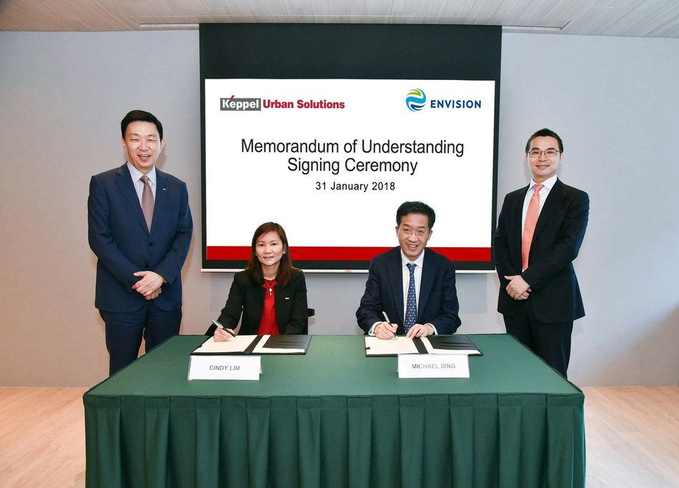 Keppel Urban Solutions Signs MOU With Envision (PRNewsfoto/Envision)