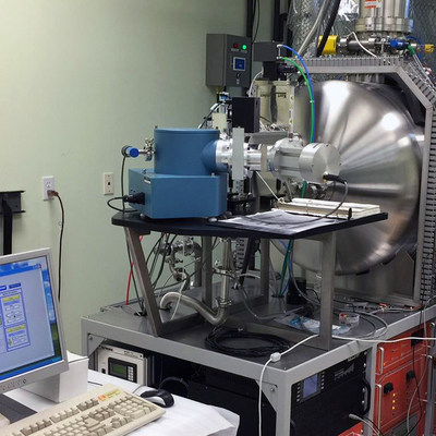 McPherson vacuum spectrometer on optical test chamber (Photo: courtesy of SimulTek Research)