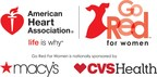 Celebrities confirmed to walk American Heart Association's Go Red For Women™ Red Dress Collection 2018 Fashion Show presented by Macy's