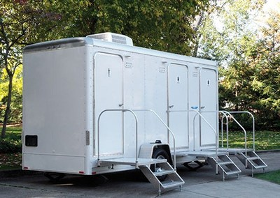 Trailers used for portable restroom rentals are seeing a surge in sales internationally.