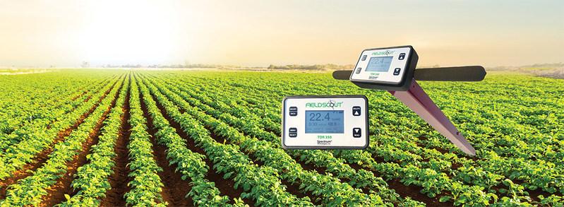 TDR350 in potato field.