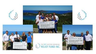 Presentation of Donations for St. Thomas Charities post Hurricane Irma & Hurricane Maria