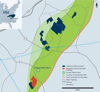 Piedmont Lithium Project Option and Purchase Agreements