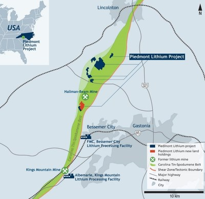 Piedmont Lithium Project Land Holdings