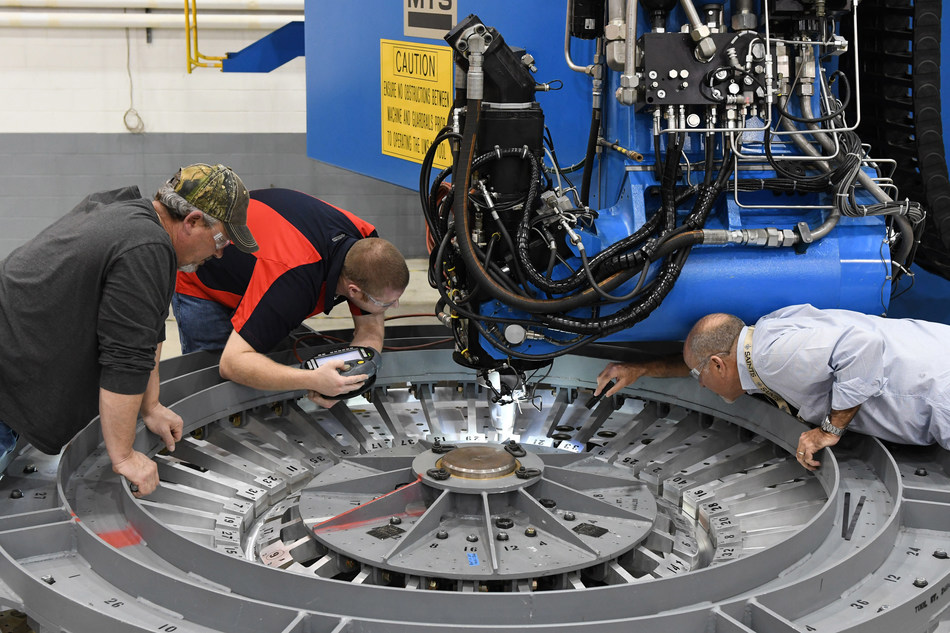 At the NASA Michoud Assembly Facility in Louisiana, Lockheed Martin technicians have started building the first Orion that will carry humans to deep space on Exploration Mission-2. Image courtesy of NASA.