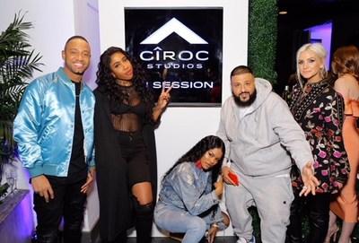 CIROC Ultra Premium Vodka Celebrates the Launch of CIROC Studios with Terrence J, Sevyn Streeter, DJ Khaled and Ashlee Simpson Ross.