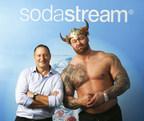 SodaStream CEO Daniel Birnbaum & Game of Thrones actor Thor Bjornsson (PRNewsfoto/SodaStream International Ltd.)
