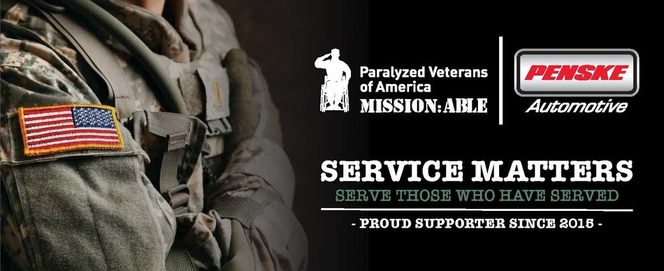 """""""Penske Automotive has donated more than $3 million to Paralyzed Veterans of America since 2015"""""""
