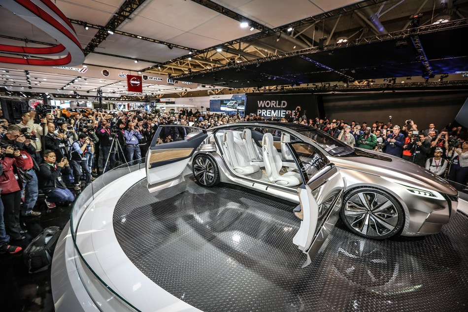 The Nissan V-motion 2.0 Concept made its Canadian debut at the 2017 Canadian International AutoShow in Toronto. (CNW Group/Canadian International AutoShow)