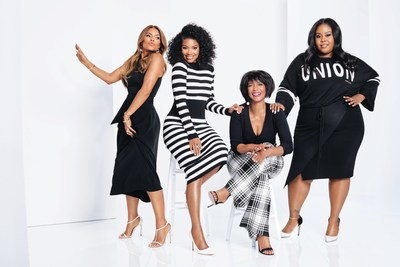 The Leading Ladies of BET's hit show, Being Mary Jane are #AllTogetherNow for Gabrielle Union's Spring Collection (Left to right: Lisa Vidal, Gabrielle Union, Margaret Avery, Raven Goodwin)