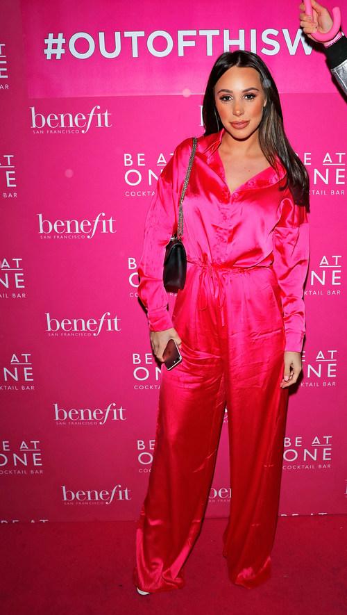 Amber Dowding at Benefit Cosmetics BADgal BANG! Launch event (PRNewsfoto/Benefit Cosmetics)