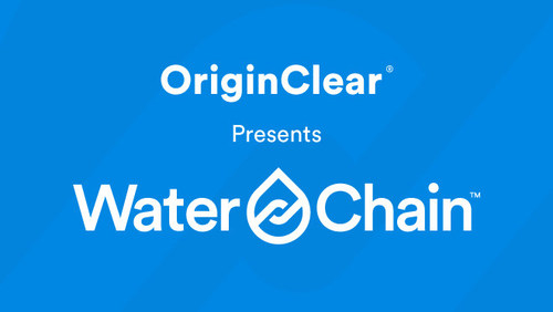 WaterChain is creating a water ecosystem on the blockchain to automate the complex chain of transactions that take place daily throughout the trillion-dollar global water industry. (PRNewsfoto/OriginClear, Inc.)
