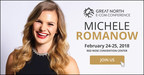 Dragon's Den Michele Romanow is the keynote speaker to close out the Great North E-Commerce Conference in Mississauga, Ontario on Feb. 24-25, 2018. (CNW Group/Great North E-Com Conference)