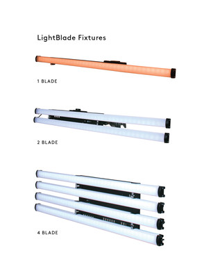 Three new NBCUniversal LightBlade LED products are debuting at BSC Expo:  1 Blade, 2 Blade, and 4 Blade models. (PRNewsfoto/NBCUniversal LightBlade)