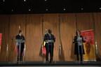President Emmanuel Macron, President Macky Sall, and Julia Gillard. Credit: GPE/Heather Shuker