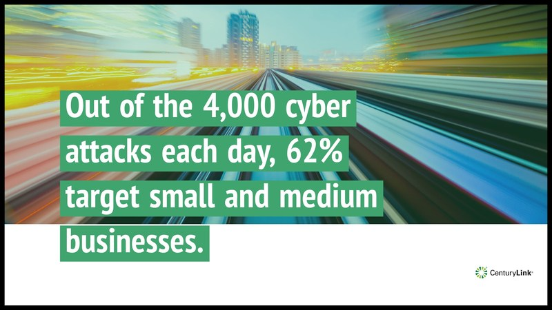 Out of the 4,000 cyber attacks each day, 62 percent target small and medium businesses.
