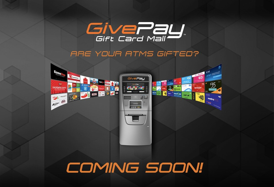 GivePay Gift Card Mall – Coming soon to an ATM near you