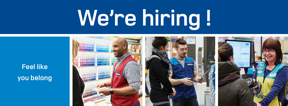 In preparation for home improvement's busiest season, Lowe's Canada is recruiting more than 7,000 full-time, part-time and seasonal employees this spring. (CNW Group/Lowe's Canada)