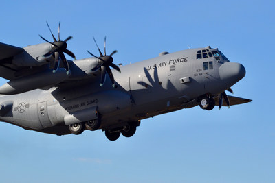 UTC Aerospace Systems recently completed the first of two contracted Lockheed Martin C-130H propeller upgrades for the Air National Guard's 153rd Airlift Wing. Photo Credit: Air National Guard