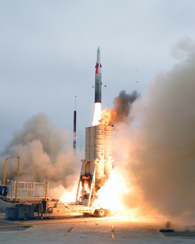 Sample missile launch courtesy of the US Navy News Service