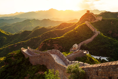 Astounding sunset of the Great Wall