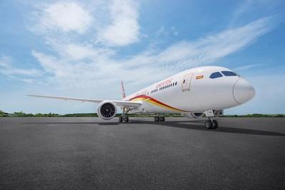 La ruta entre México y Pekín de Hainan Airlines será operada por el Boeing 787 Dreamliner (PRNewsfoto/Hainan Airlines Holding Co., LT)