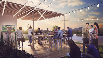 A rooftop terrace for gatherings or simply to enjoy the view. www.yimbyproject.com (CNW Group/Réseau Sélection)
