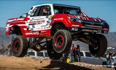 "The Honda Off-Road Racing Team and its Ridgeline Baja Race Truck opened the 2018 off-road racing season with a decisive victory in the ""7200"" class for V6-powered race trucks in Saturday's Parker 425."