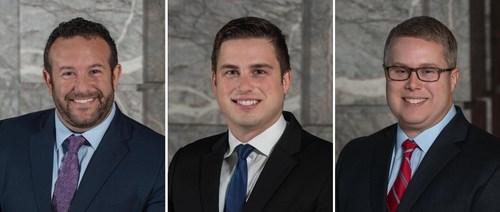 (Left to right:  Real estate attorneys David Singer, Matt Newton and Tom Hunt)