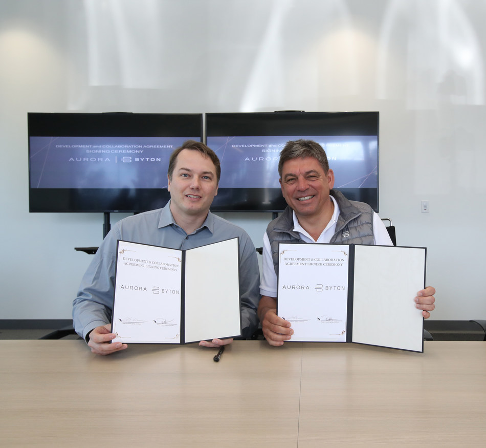 Chris Urmson, CEO and Co-Founder of Aurora, and Dr. Carsten Breitfeld, CEO and Co-Founder of BYTON, announced a partnership between the two companies, today, February 5, in Santa Clara.