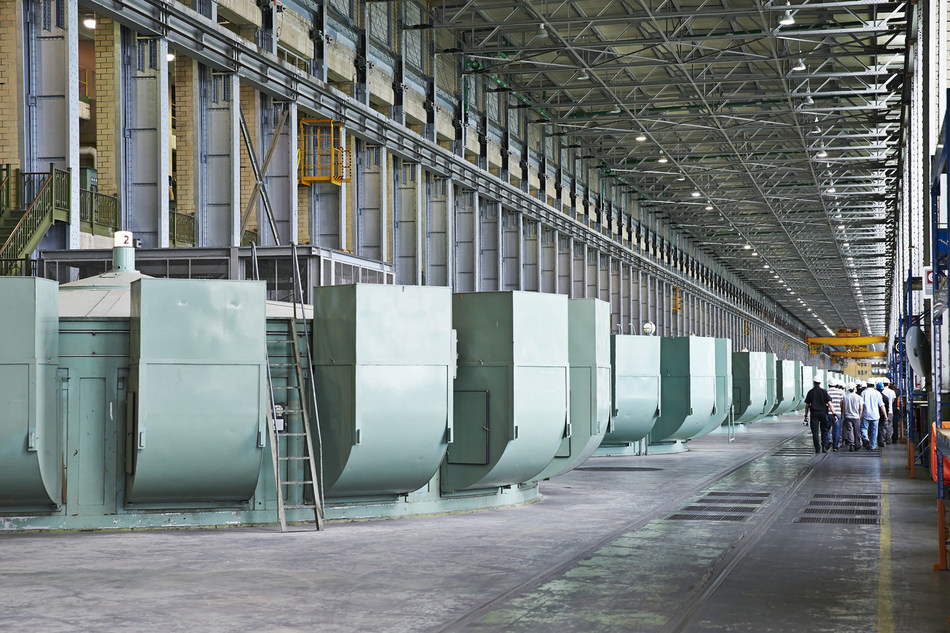 Guided tour inside the Beauharnois generating station. (CNW Group/Hydro-Québec)