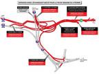 Entraves dans l'échangeur Turcot pour la fin de semaine du 9 février (Groupe CNW/Ministère des Transports, de la Mobilité durable et de l'Électrification des transports)
