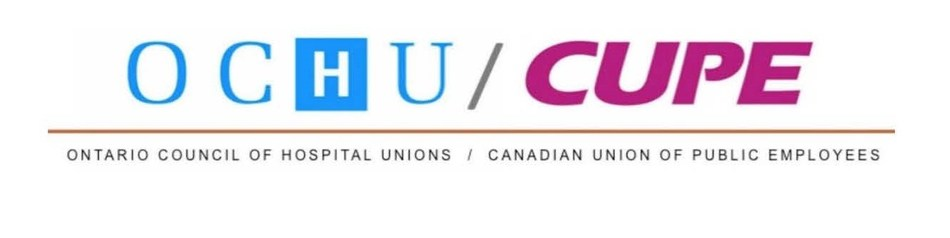 Logo: Ontario Council of Hospital Unions (OCHU); Canadian Union of Public Employees (CUPE) (CNW Group/Canadian Union of Public Employees (CUPE))