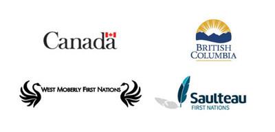 Logos des gouvernements du Canada et de la Colombie-Britannique ainsi que des Premières Nations de West Moberly et de Saulteau (Groupe CNW/Environnement et Changement climatique Canada)