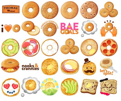 Thomas' Bagels launches the Thomas' Emoji Keyboard in celebration of National Bagel Day on February 9.