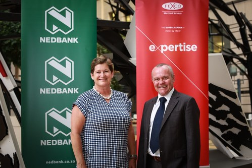(L to R) Pamela White, Head of Corporate Card Services at Nedbank and Alistair Batten, General Manager, FEXCO MEASA Region (PRNewsfoto/FEXCO and Nedbank)