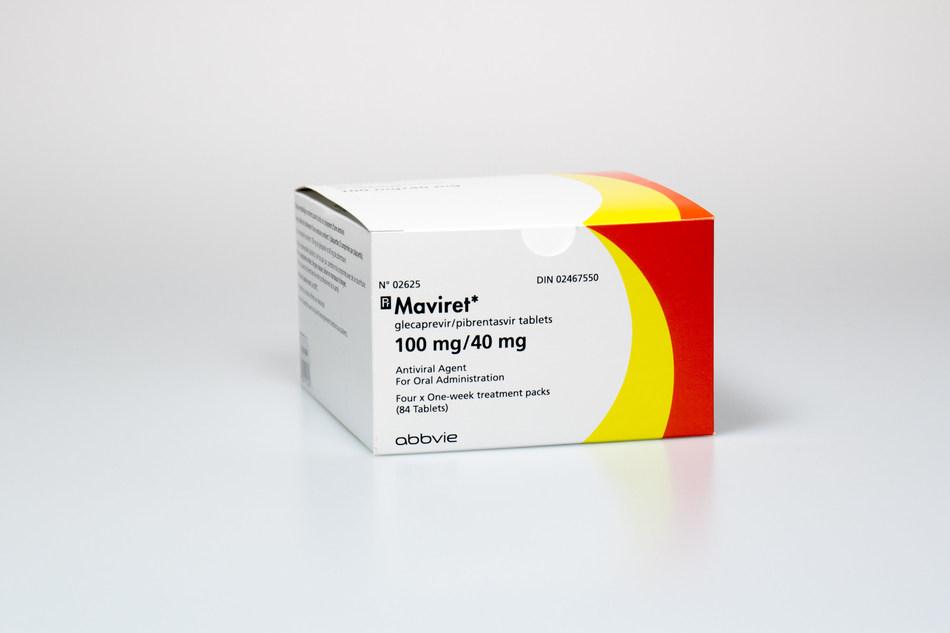 MAVIRET product package courtesy AbbVie Canada (CNW Group/AbbVie Canada)