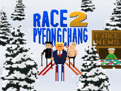 theScore's new in-app game 'Race 2 PyeongChang' is a fun new twist on politics and the Winter Games. (CNW Group/theScore, Inc.)