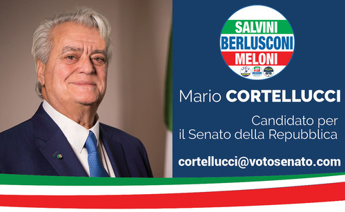 Mario Cortellucci proudly announces his candidacy for the 2018 Election for the Italian Senate.