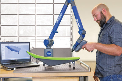 O Design ScanArm 2.0 oferece uma precisão aprimorada de até 25%, redução total de peso de 25% e agora está disponível em três comprimentos de braço - 2,5 m, 3,5 m e 4,0 m.