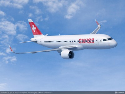 Swiss International Air Lines (SWISS) has selected Pratt & Whitney Geared Turbofan™ (GTF) engines to power 15 total Airbus A320neo and A321neo aircraft. Deliveries are scheduled to begin in 2019. (PRNewsfoto/Pratt & Whitney)