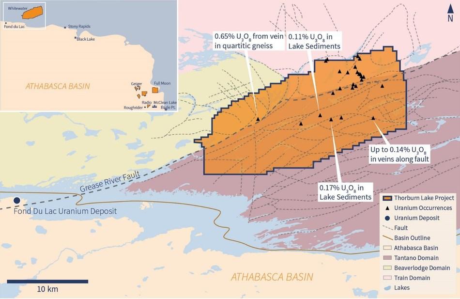Figure 2 – Whitewater Property Map (CNW Group/IsoEnergy Ltd.)