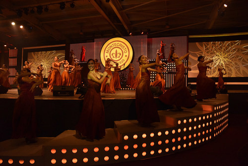 Stage, tables and music show at Gala Evening (PRNewsfoto/HABANOS SA)