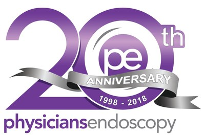 Physicians Endoscopy 20th Anniversary Logo