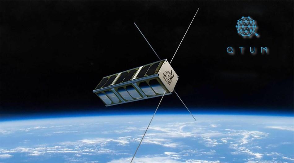 Qtum launches its namesake satellite into the space. (PRNewsfoto/Qtum Foundation Pte Ltd)