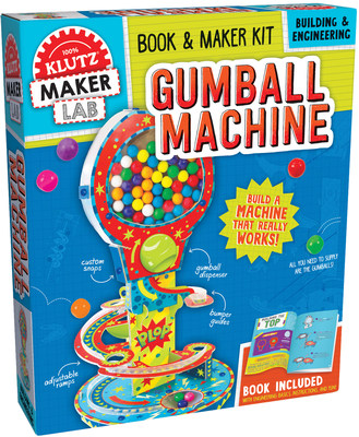 Klutz Maker Lab: Gumball Machine ($24.99 - February 2018). Ages 8 and up. Perfect for any budding engineer with a sweet tooth! Make your own gumball machine with a book of step-by-step instructions, adjustable ramps, custom snaps, and bumper guides. Then, keep the ball rolling with other gumball-related science experiments using simple machines. It's a ball of fun!
